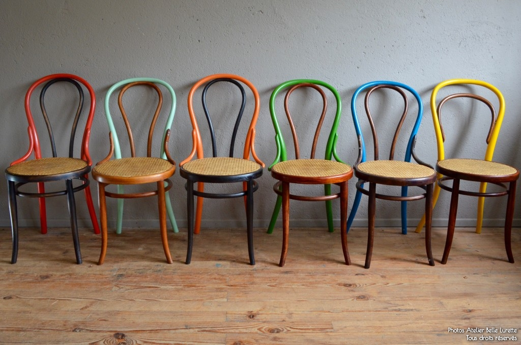 Free chaises bistrot bois courb thonet fischel annes mix for Chaise bistrot baumann prix
