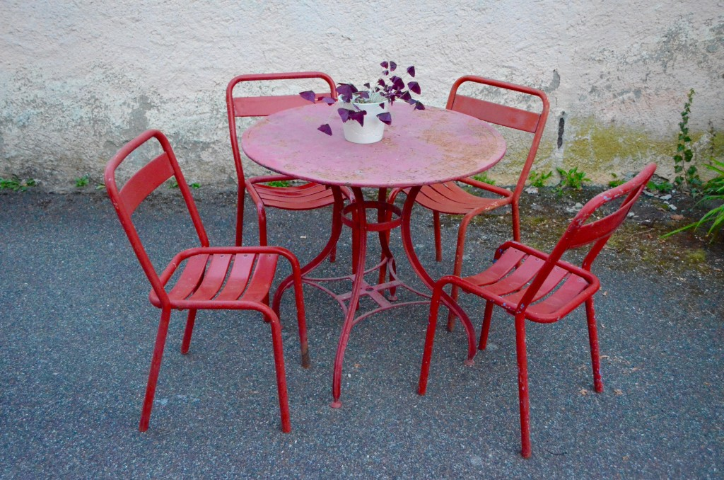Beautiful salon de jardin metal rouge ideas awesome - Salon de jardin metal ...
