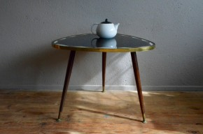 Table tripode cocktail médiator années 60 sixties rockabilly vintage rétro antic table low french deco