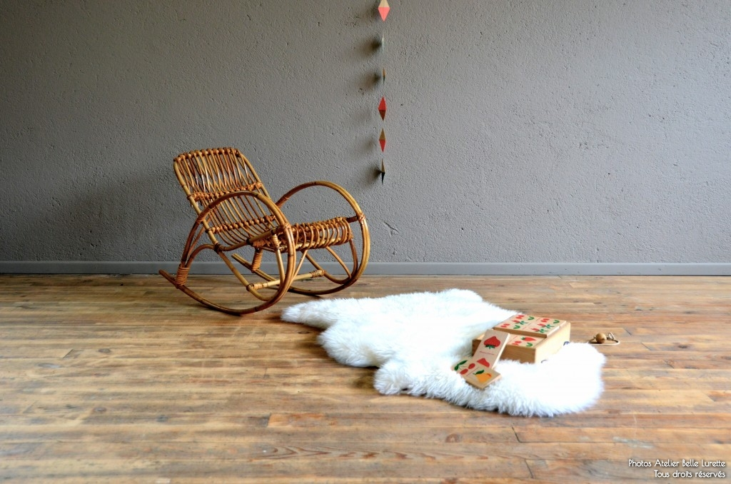 Rocking Chair enfant en rotin Lucky