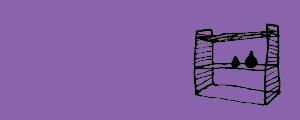Les étagères et vitrines