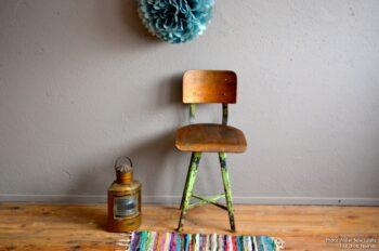 Chaise tabouret atelier jean prouvé indus ROWAG usine vintage
