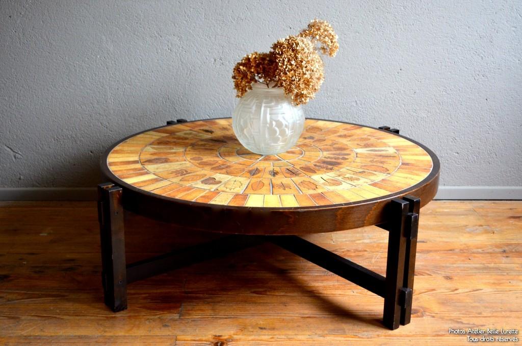 table basse roger capron l 39 atelier belle lurette r novation de meubles vintage. Black Bedroom Furniture Sets. Home Design Ideas