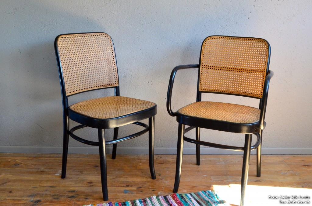 Ensemble chaise-fauteuil Amédée