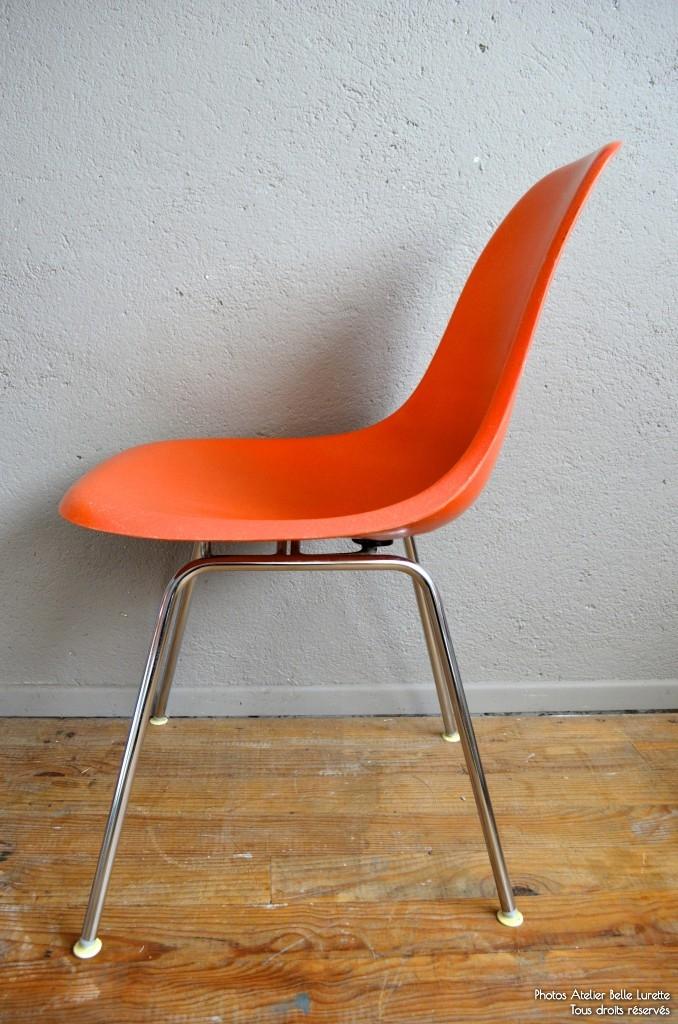 chaises charles ray eames dsx l 39 atelier belle lurette r novation de meubles vintage. Black Bedroom Furniture Sets. Home Design Ideas