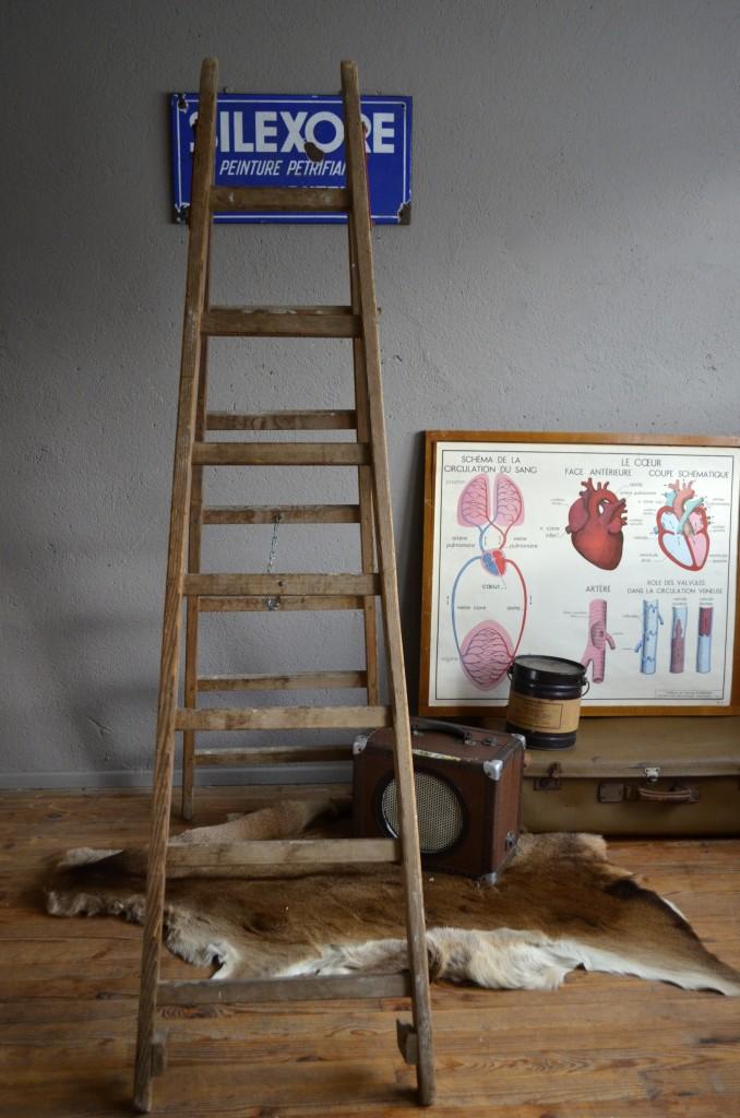 escabeau antoine l 39 atelier belle lurette r novation de meubles vintage. Black Bedroom Furniture Sets. Home Design Ideas