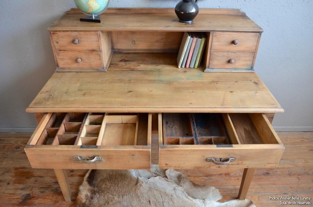 Bureau orphée latelier belle lurette rénovation de meubles vintage