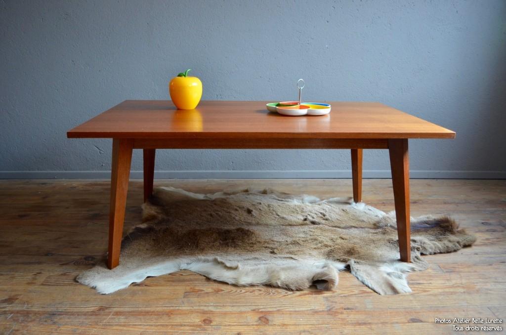 Table Basse Vintage Scandinave Pearlfection Fr