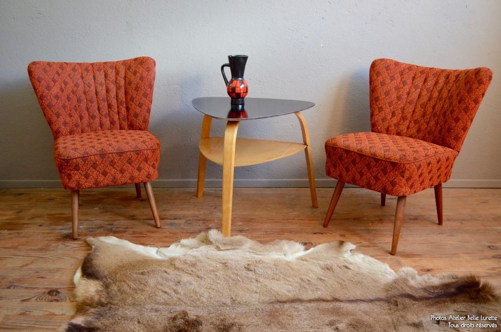 fauteuils cocktail vintage rtro annes 60 rockabilly pop pitement compas soldes - Fauteuil Cocktail Vintage
