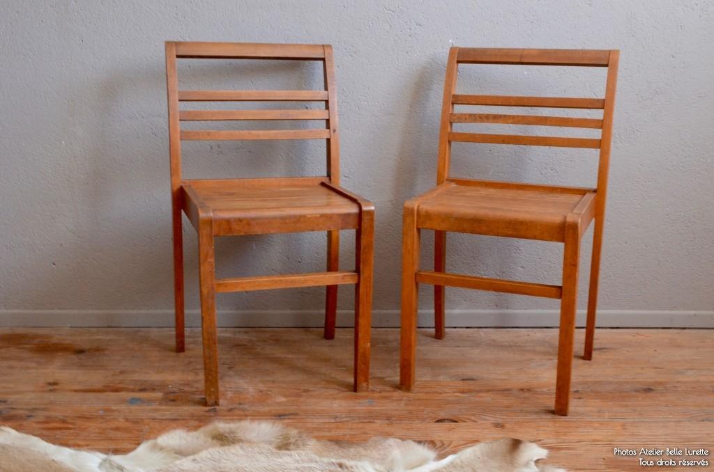 Paire de chaises René Gabriel