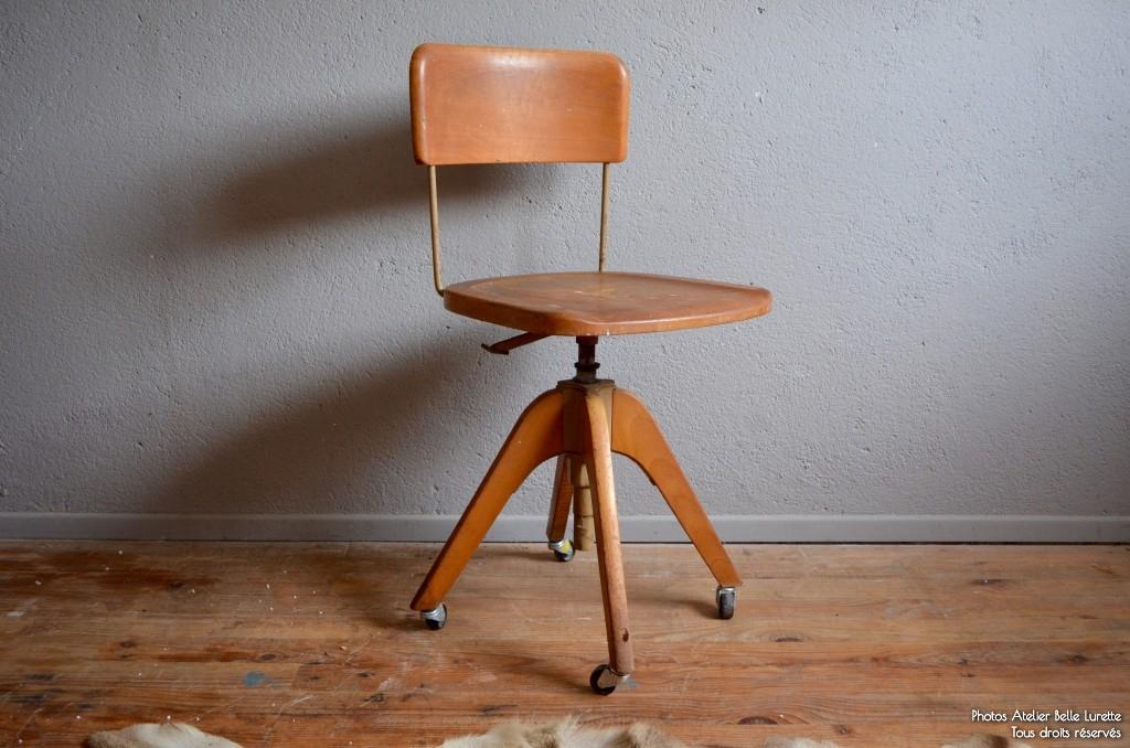 chaise d atelier mingus l 39 atelier belle lurette r novation de meubles vintage. Black Bedroom Furniture Sets. Home Design Ideas