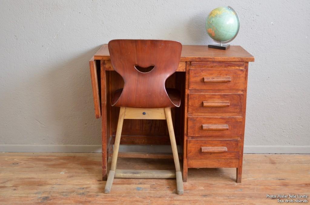 Bureau antonin l 39 atelier belle lurette r novation de meubles vintage - Petit bureau vintage ...