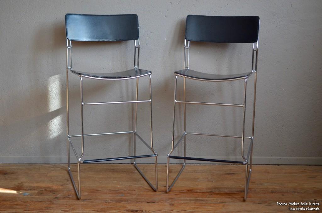 Paire Vintage De Belle LuretteRénovation Meubles L'atelier Chaises Arrben Pw0yv8OmNn