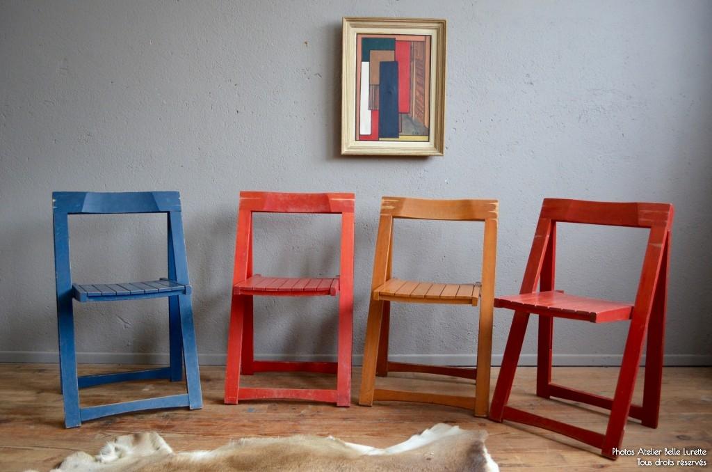 Chaise Pliante Bois Vintage