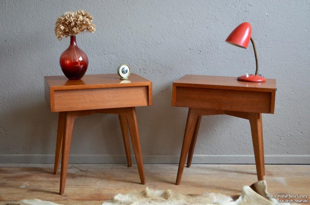 Table De Chevet Vintage Scandinave Pearlfectionfr