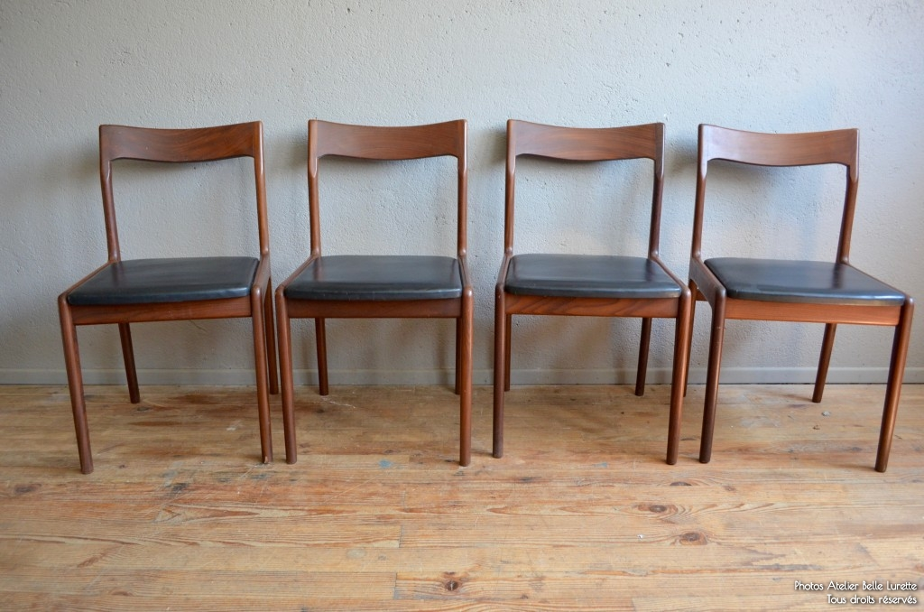 Chaises Scandinaves Vintage Rtro Teck Ska Annes 70 Danemark Scandinavian Chairs French Furniture Seventies Vinyle Teak Soldes