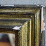 Miroir ancien doré bois antique bohème vintage rétro patiné déco mix and match boho gyspsy chic
