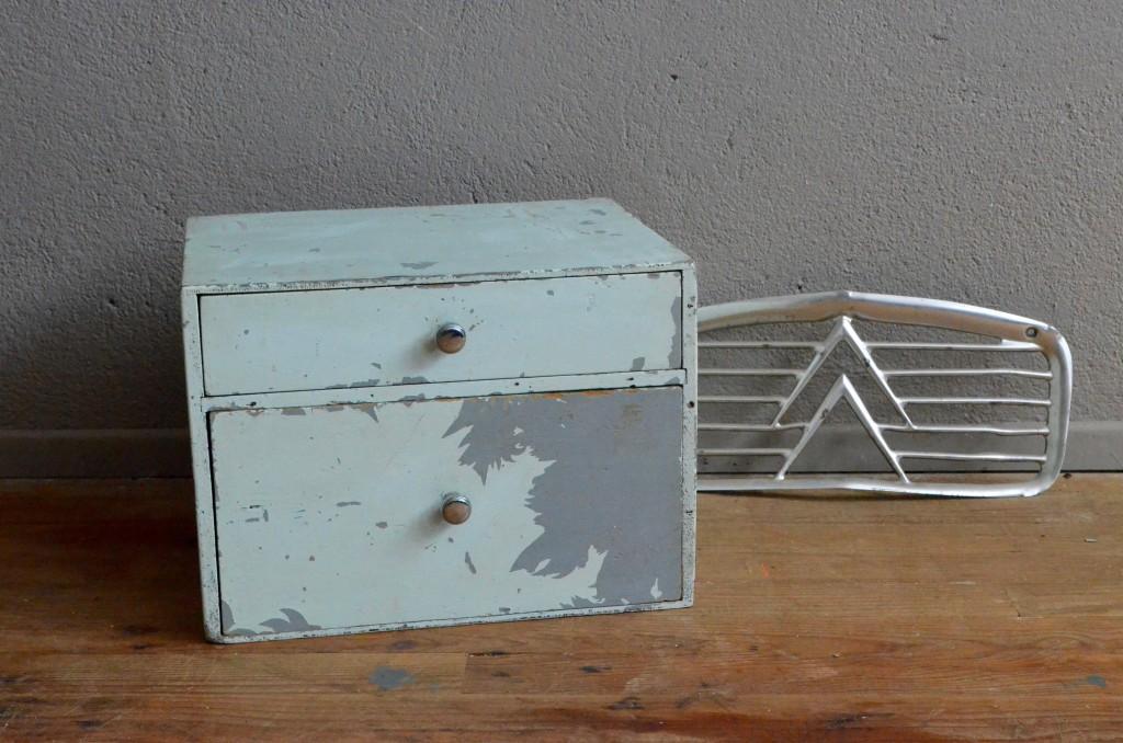 Caisson Tiroirs Tiroir Atelier Usine Bureau Indus Meuble Du0027appoint Vintage Rangement  Bricolage