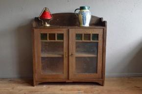 Bahut, commode, petit meuble, vintage rétro primitif shabby chic gipsy chic ancien antiquité verre vitrine début 19e