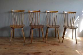Chaises bistrot Baumann moustaches pieds compas années 50 vintage rétro french furniture antic chairs midcentury