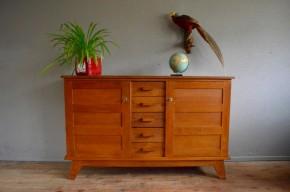 Bahut enfilade René Gabriel mobilier reconstruction design français 1950 antic french design chest of drawers