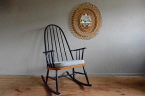 Rocking chair scandinave vintage rétro années 50 scandinave style Tapiovaara Lena Larsson Ercol fauteuil à bascule antic scandinavian armchair design midcentury