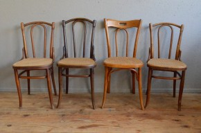 Chaise bistrot Thonet Fischel bois courbé n°56 rétro vintage antic french chairs bentwood