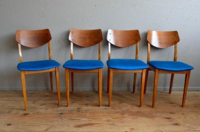 Chaises scandinaves vintage rétro moderniste années 50 design bleu antic french furniture scandinavian chairs midcentury blue