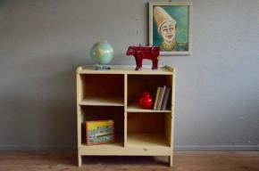 Bibliothèque enfant étagère rustique bois années 50 bohème rustique antic french deco kid library wooden shelves