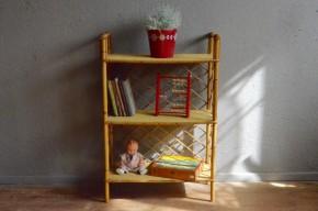 Etagères en rotin vintage rétro années 60 bohème chambre enfant antic rattan shelves french furniture bohemian deco sixties