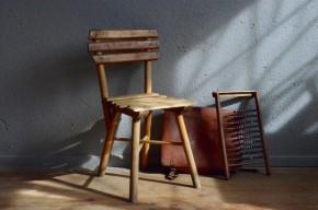 Chaise enfant vintage rétro wabi sabi bohème rustique boho années 40 antic kid chair bohemian deco wooden chair