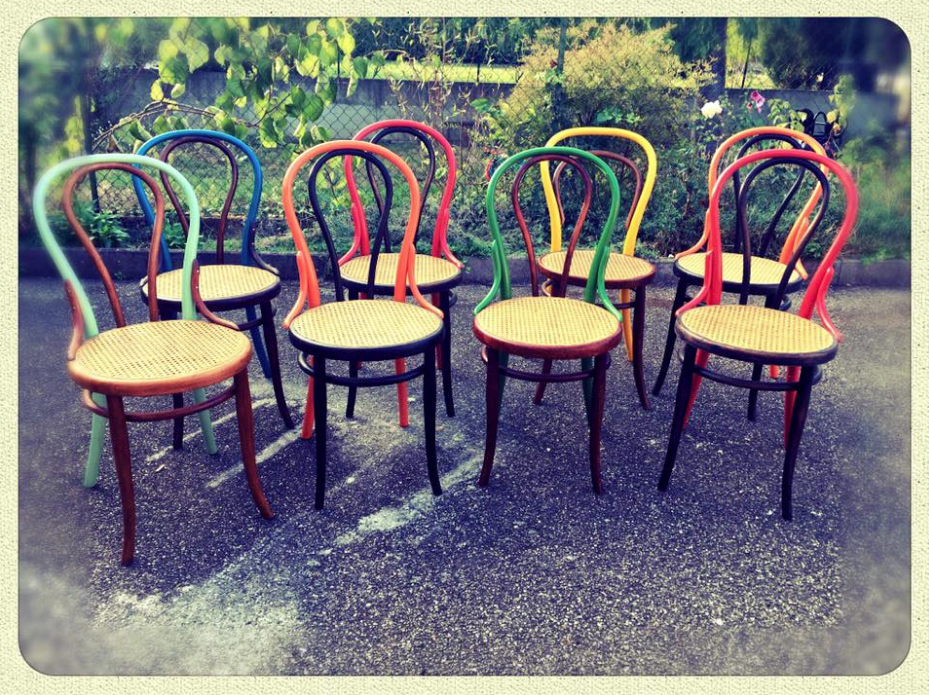 En direct de l'Atelier-chaises bistrot colorées