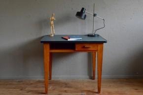 Bureau atelier vintage rétro années 50 chêne enfant chambre antic french furniture wooden desk craft midcentury