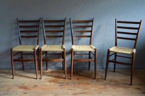 Chaises vintage rétro années 50 super légères rustique wabi sabi design minimaliste antic french chairs miccentury