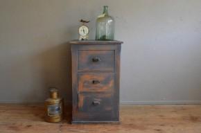 Meuble à tiroirs meuble de métier atelier indus rétro vintage années 40 commode meuble colonne patiné antic french furniture chest of drawers midcentury