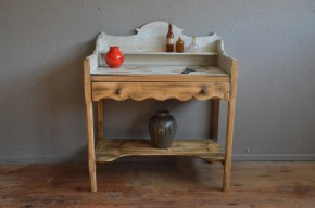 Coiffeuse vintage rétro shabby chic bohème années 40 campagne dressing table french furniture midcentury bohemian deco bois