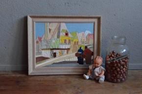 Tableau patchwork déco enfant vintage naïf couture amish bohème antic bohemian deco