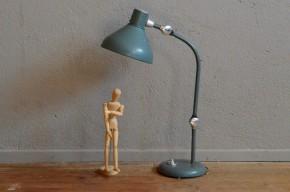 Lampe de bureau Jumo GS1 verte indus vintage années soixante chrome
