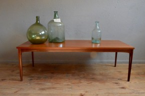 Table basse vintage rétro scandinave teck minimaliste teak table low scandinavian design midcentury