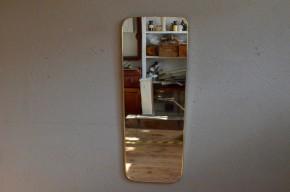 Miroir rétroviseur design années 50 vintage rétro laiton antic french mirror free design fifties midcentury brass details Belle Lurette