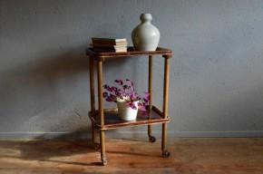 Desserte table à roulette design austria vintage bakélite bois courbé autrichien Thonet