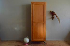Armoire d'école parisienne une porte piétement tubulaire années 60 vintage rétro mobilier scolaire armoire enfant vestiaire antic french school furniture kid wardrobe midcentury