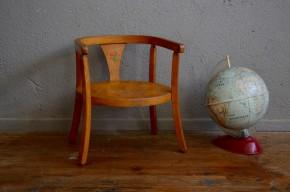 Chaise enfant Baumann vintage rétro chaise pot années 50 bohème antic french furniture kid chair premier âge naissance midcentury