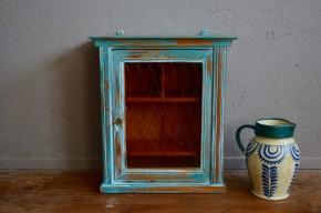 Vitrine meuble à pharmacie vintage rétro patine rustique shabby chic relooké armoire medecin cabinet
