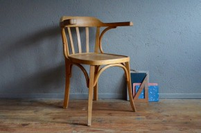 Fauteuil Luterma administration maître d'école vintage rétro années 40 antic furniture wooden armchair desk chair midcentury
