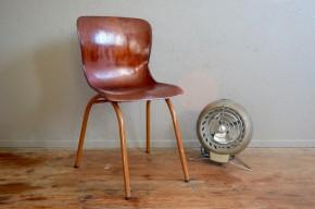 Chaise Pagholz vintage rétro pagwood années 60 Adam Stegner design allemand mobilier école antic design chairs sixties