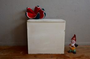 Coffre à jouet enfant malle en bois vintage rétro bohème chambre enfant cadeau naissance antic wooden trunk french furniture bohemian deco midcentury