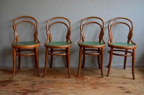 Chaises bistrot n°14 vintage rétro 1900 bois courbé dans le style Fischel Kohn Thonet ou Baumann cuisine déco