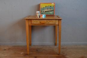 Bureau enfant pupitre d'école vintage rétro mobilier en bois années 50 antic kid desk french furniture midcentury