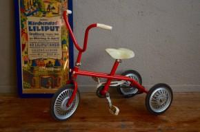Tricycle enfant vélo de marque Cow Boy vintage années 60 rouge idée cadeau jouet jeux